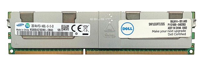 Pamięć RAM 1x 32GB DELL PowerEdge & Precision Workstation DDR3  1866MHz ECC LOAD REDUCED DIMM | SNPJGGRTC/32G